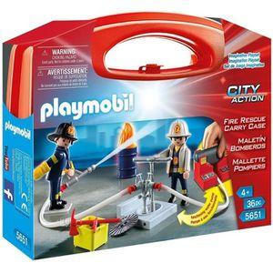 UNIVERS MINIATURE PLAYMOBIL 5651 - Valisette pompier