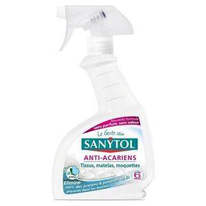 SUR-MATELAS Sanytol Vaporisateur Anti-Acariens Tissus Matelas