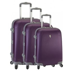SET DE VALISES Set de 3 valises 4 roues original robust II violet