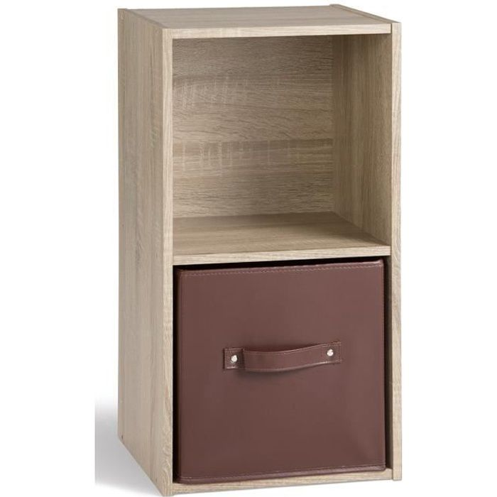 compo cube de rangement 2 cases coloris ch ne achat. Black Bedroom Furniture Sets. Home Design Ideas