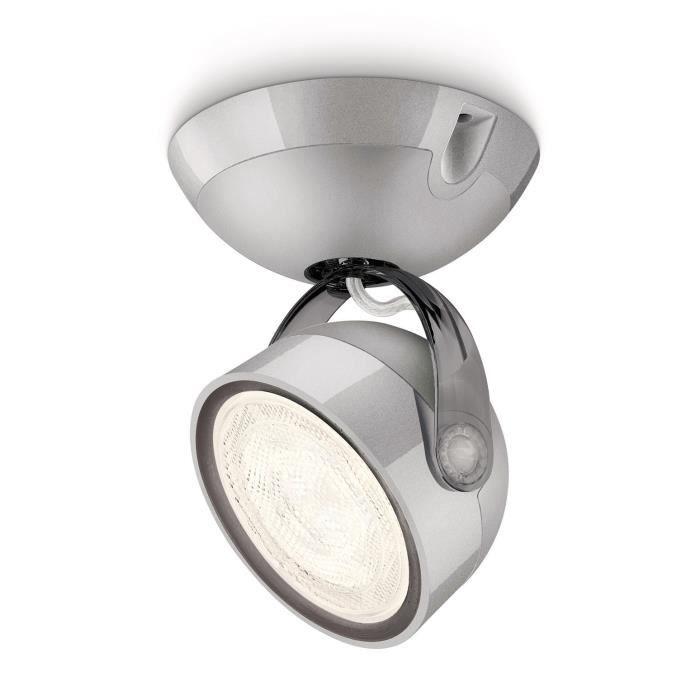 PHILIPS Spot LED DYNA gris métal 1x4W