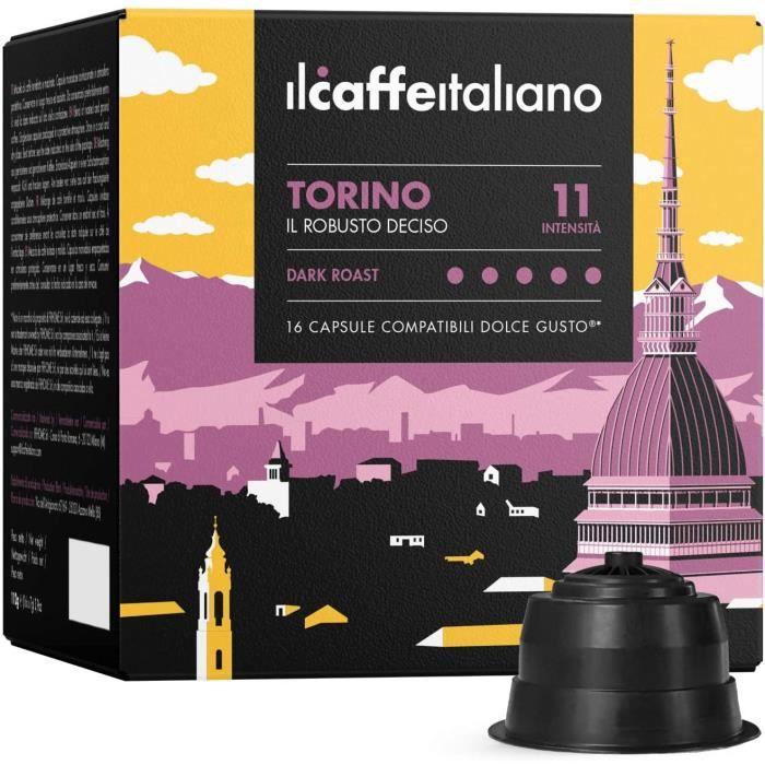 96 Capsules de café compatibles Dolce Gusto - Café Mélange Torino intensité 11 - Il Caffè Italiano