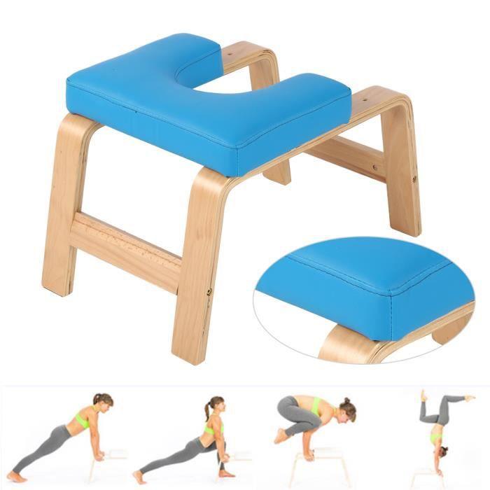 INGSHOP© Chaise de Yoga Banc d'inversion pour poirier - (Bleu)