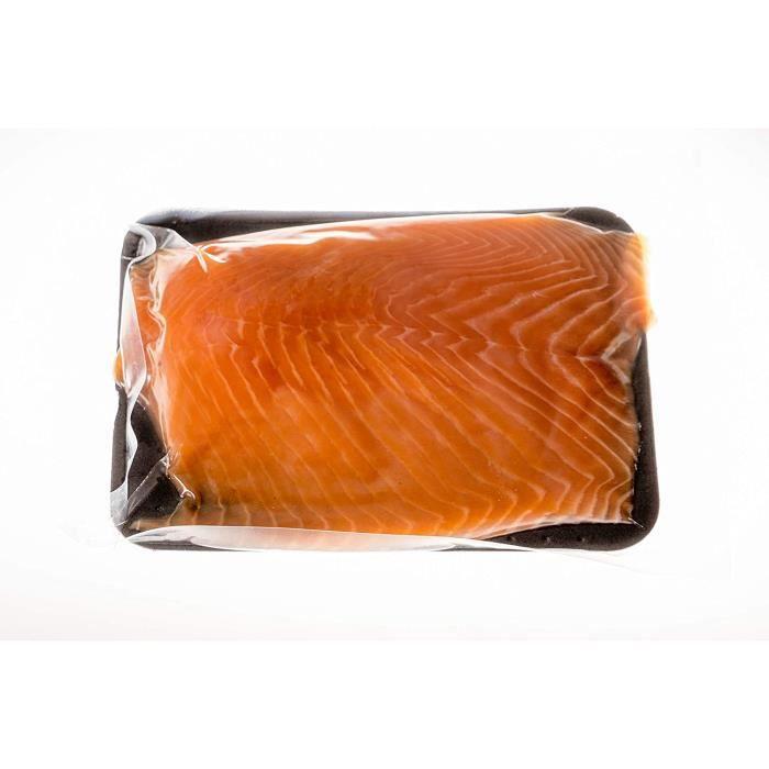 Demi filet de saumon fumé prétranché SANS peau