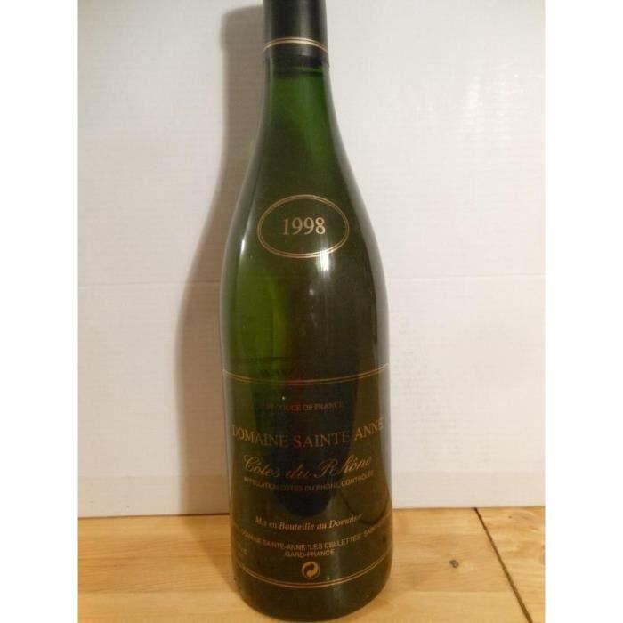 côtes du rhône sainte-anne viognier blanc 1998 - côtes du rhône france
