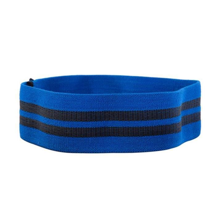 Bandes de résistance de Yoga bande élastique de hanche-cou bande de résistance Squat Yoga Fitness - Modèle: blue M - HSJSTLDC02936