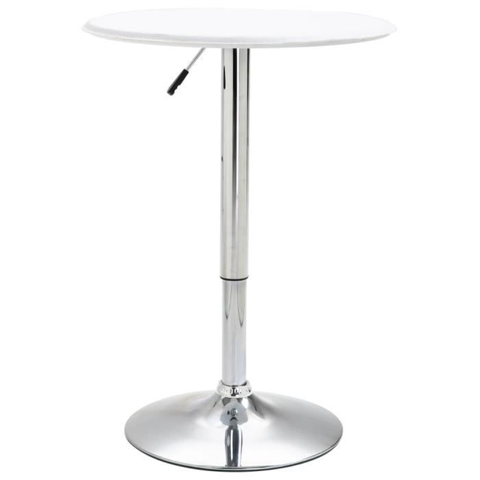 Table de bar Ø60 cm MDF - Blanc