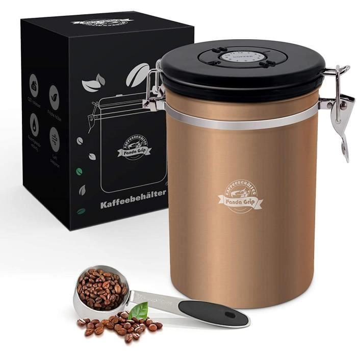 Boite a cafe, Boite a cafe moulu, Boite a cafe hermetique moulu inox 500g boite a rangement cafe decorative avec Cadran Fraicheu,326