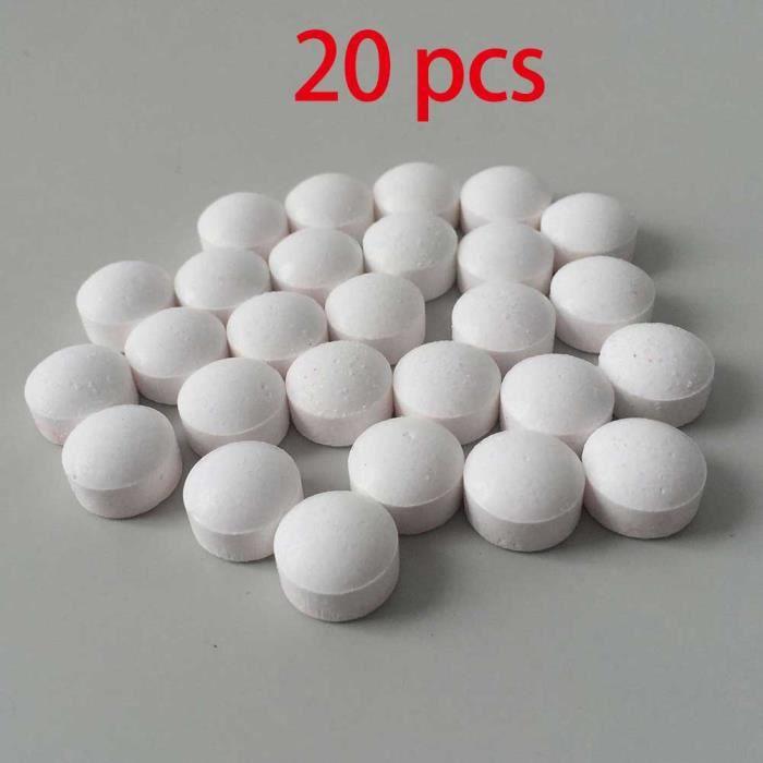 Machine à café,Machine à café nettoyage tablette1-10-20 pièces, Effervescent tablette, Agent détartrage, Tassimo - Type 20pcs