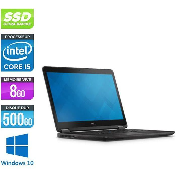 Pc portable Dell E7450 - i5 - 8Go - 500Go SSD - Windows 10