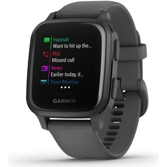 GARMIN Venu Sq - Slate/Slate - Montre GPS de sport connectée santé et bien-être