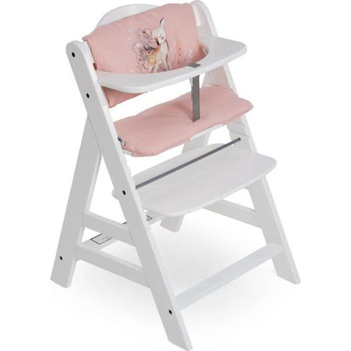 Birdie Coussin Chaise Haute pour Hauck Alpha+ et Beta+ Fixation et Nettoyage Facile Coussin pour Assise et Dossier Hauck Highchair Pad Deluxe