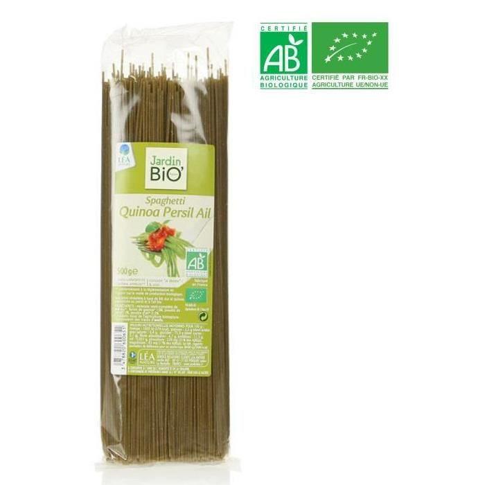 Spaghetti quinoa persil ail bio 500 g Jardin Bio