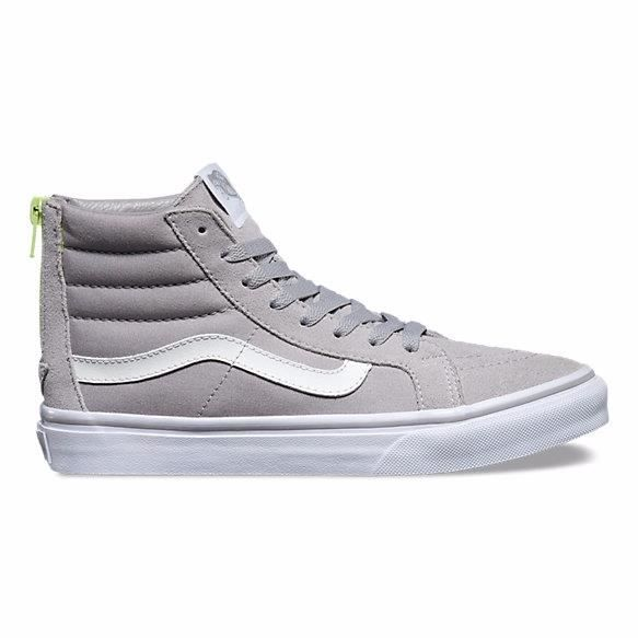 Baskets Vans Pop SK8-HI SLIM ZIP Gris XH8JV9