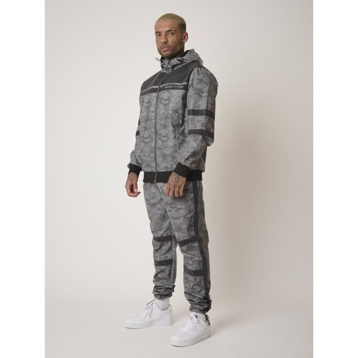 PROJECT X PARIS - Pantalon de jogging bi-matière réfléchissante motif camouflage - Homme