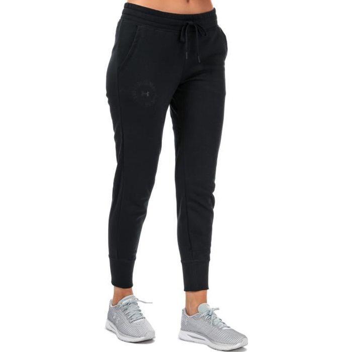 Pantalon De Jogging Under Armour Rival Fleece Metallic Pour Femme En Noir.