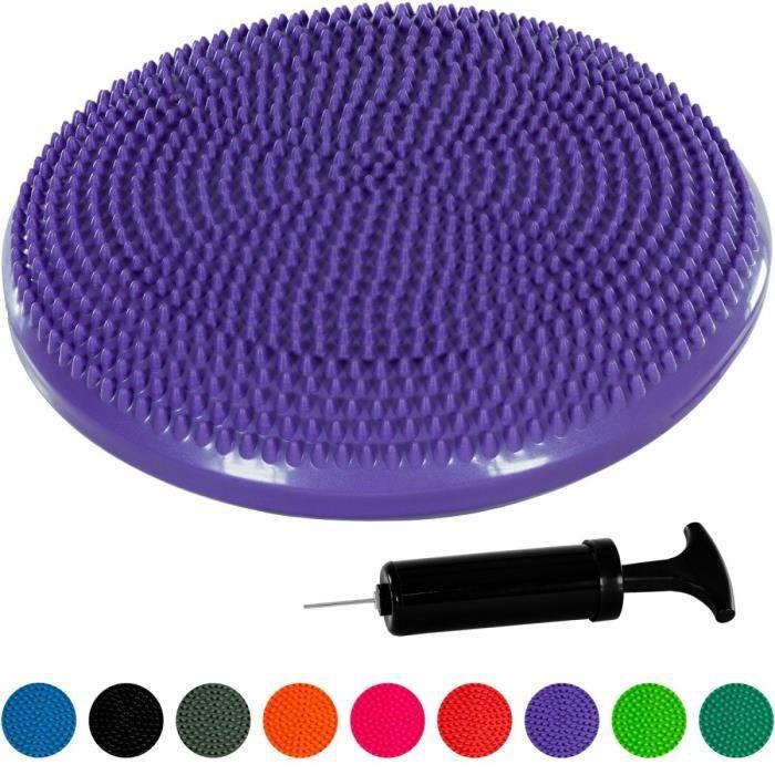 MOVIT Coussin d'équilibre et d'assise gonflable 33 cm, Violet