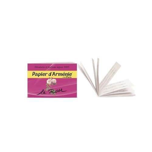 papier d'arménie carnet la rose