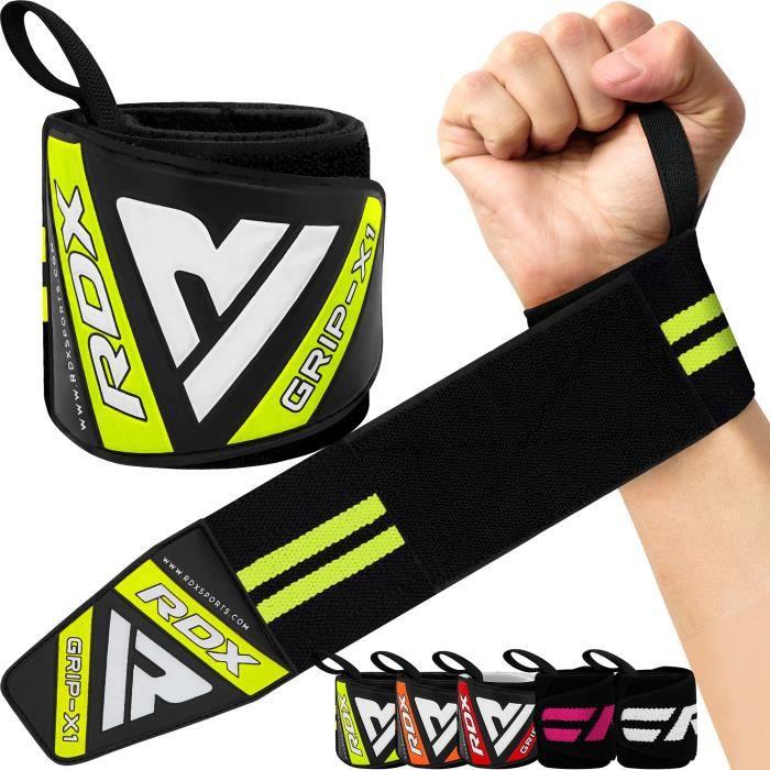RDX Sangle Musculation Poignet Bandes - Approuvé par IPL et USPA - Gym Straps pour Haltérophilie, Gymnastique, Culturisme