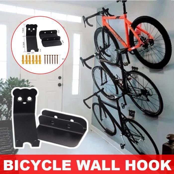 Rack Rangement Vélo Support pour Bicyclette Mural en Acier Support de Rangement vélo à la maison