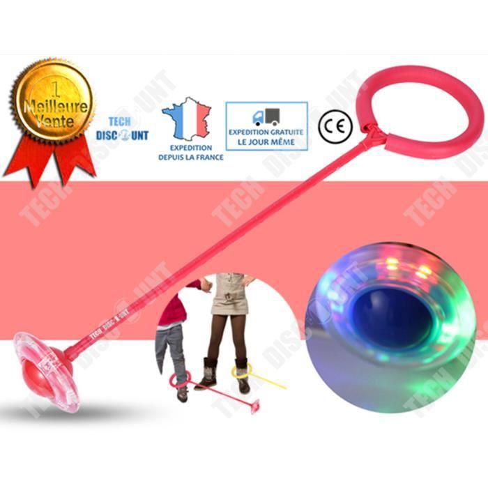 TD® Corde à sauter crossfit enfant fitness fille femme vitesse anneau boule de skip lumière LED saut sport cheville pieds exercice