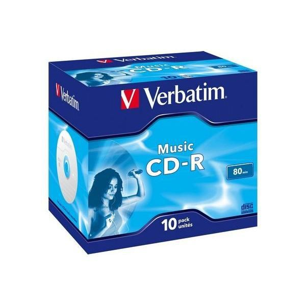 CD Verbatim audio P10 80min MUSIC LIFE PLUS
