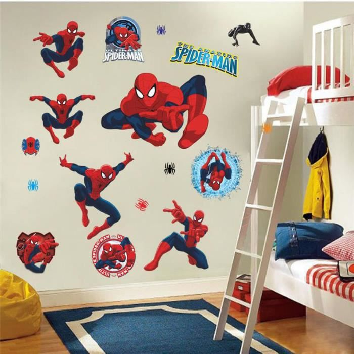 Spiderman film dessin anime achat vente spiderman film for Decoration chambre spiderman