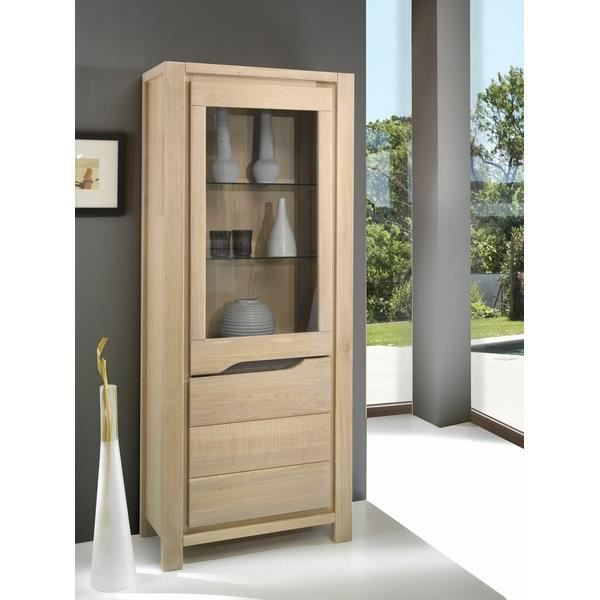vitrine en ch ne massif 39 baltic 39 achat vente vitrine. Black Bedroom Furniture Sets. Home Design Ideas
