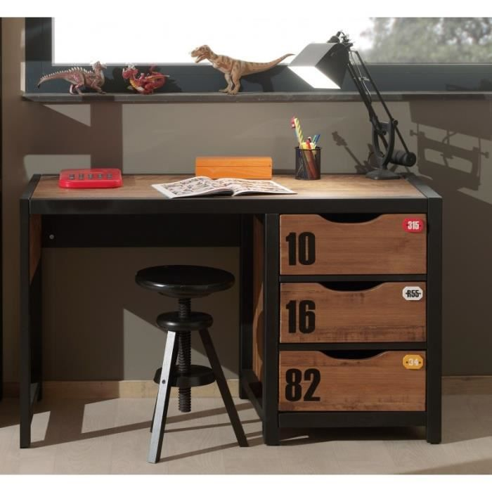 bureau ado bois massif 3 tiroirs student achat vente. Black Bedroom Furniture Sets. Home Design Ideas