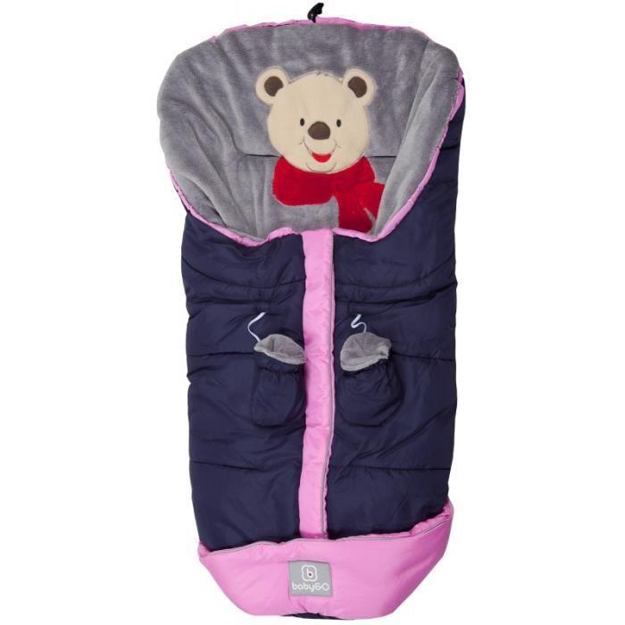 BabyGo Chancelière Big pour poussette et landau bleu-Pink NEUF