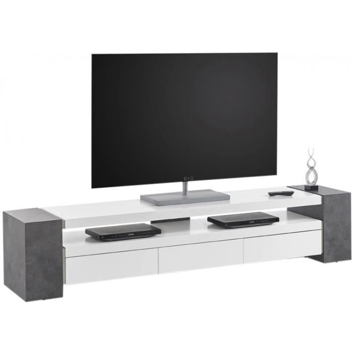 meuble tv longueur 200 cm achat vente meuble tv. Black Bedroom Furniture Sets. Home Design Ideas