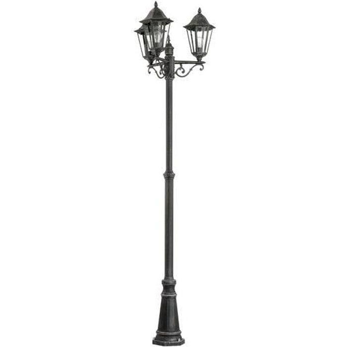 LAMPE DE JARDIN  NAVEDO - Lampadaire d'extérieur 3 Lumières Noir H2