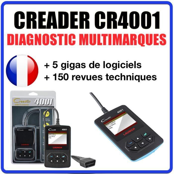Valise Diagnostique Pro Multimarque En Français Obd Obd2 Diagnostic CREADER 6