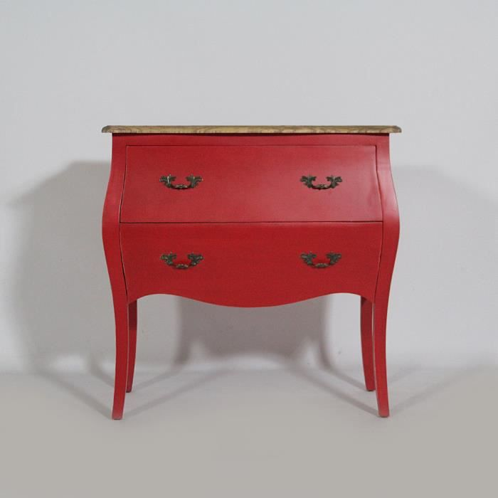 commode galb e baroque 2 tiroirs rouge moncornerdeco. Black Bedroom Furniture Sets. Home Design Ideas