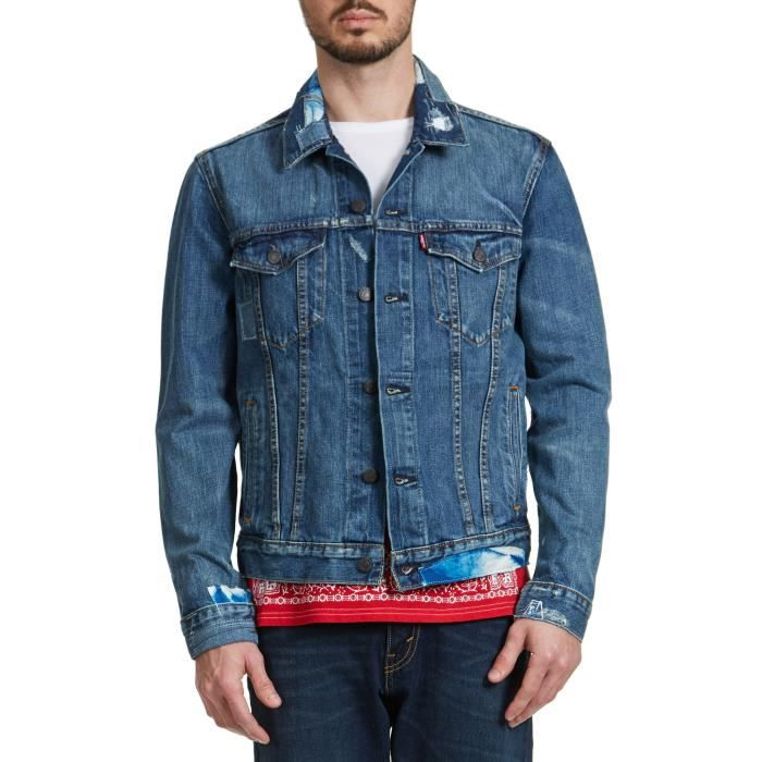 veste en jean levis homme achat vente veste en jean. Black Bedroom Furniture Sets. Home Design Ideas