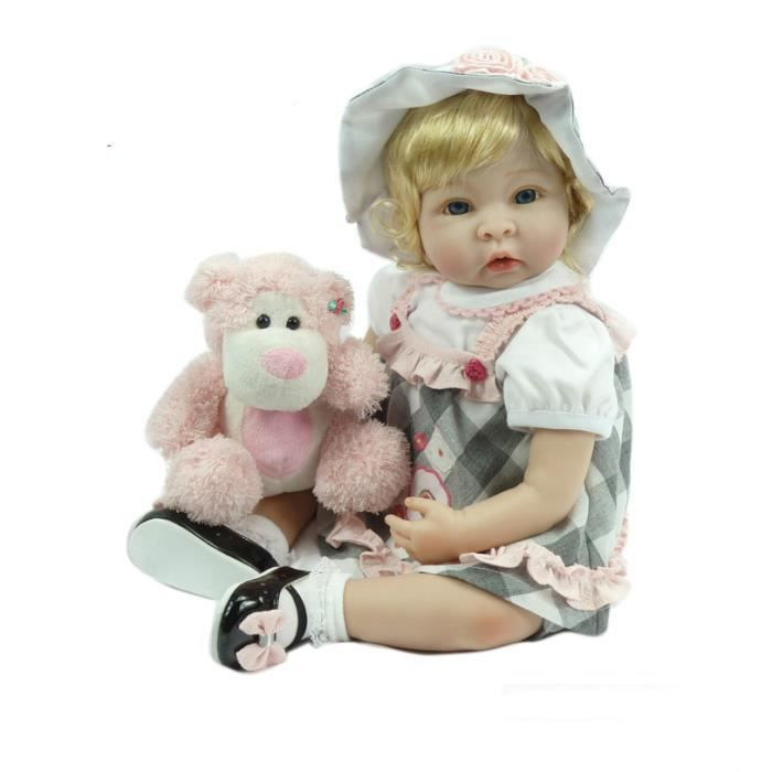 bebe reborn baby doll r aliste souple en silicone reborn b b s fille 22 pouce 55 cm adorable. Black Bedroom Furniture Sets. Home Design Ideas