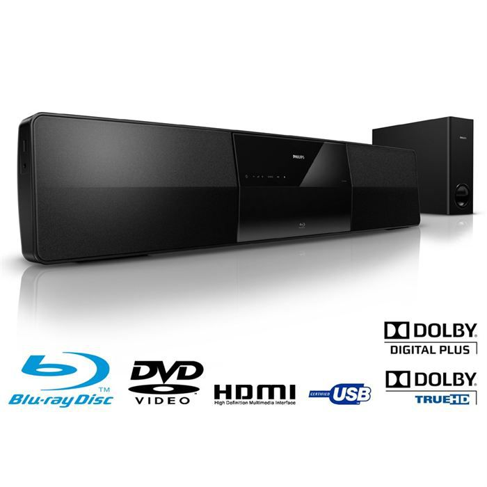 philips hts5131 barre de son blu ray 400w achat vente. Black Bedroom Furniture Sets. Home Design Ideas