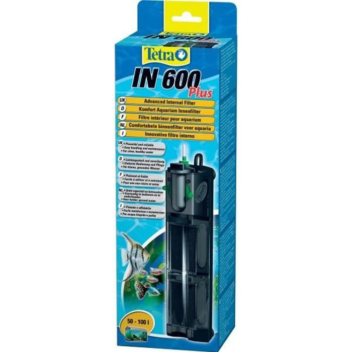Tetra filtre int rieur pour aquarium in 600 plus achat for Filtre interieur aquarium
