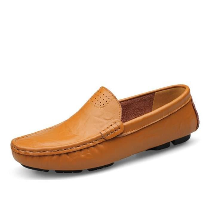 Mocassin Hommes Mode Chaussures Grande Taille Chaussures BSMG-XZ73Orange36 ScKym