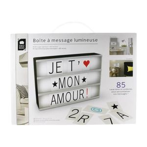 lettre lightbox achat vente lettre lightbox pas cher cdiscount. Black Bedroom Furniture Sets. Home Design Ideas