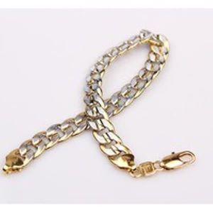 BRACELET - GOURMETTE Bracelet Homme Or jaune 18 or blanc Rempli  Martel