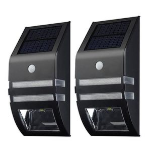 LAMPE DE JARDIN  KIN [Lampe Solaire Murale LED]2 Pack Eclairage Sol