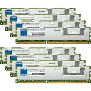 MÉMOIRE RAM 64Go (8 x 8Go) DDR3 1333MHz PC3-10600 240-PIN ECC