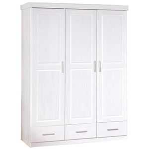 armoire 3 portes 3 tiroirs en pin blanc achat vente armoire 3 portes 3 tiroirs en pin blanc. Black Bedroom Furniture Sets. Home Design Ideas