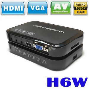LECTEUR MULTIMÉDIA Portable 1080p Mini Full HD H6W Media Center Lecte