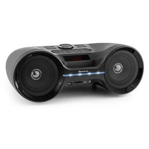 RADIO CD CASSETTE auna Boombastic - Boombox Bluetooth avec port USB