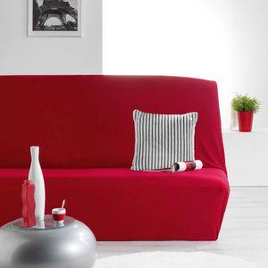 HOUSSE DE CANAPE Housse de clic clac extensible Nova rouge Autres R