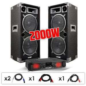 PACK SONO Pack Sonorisation DJ Enceintes Passives Bass-refle