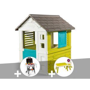 MAISONNETTE EXTÉRIEURE Cabane enfant Pretty - Smoby + Plancha + Table et