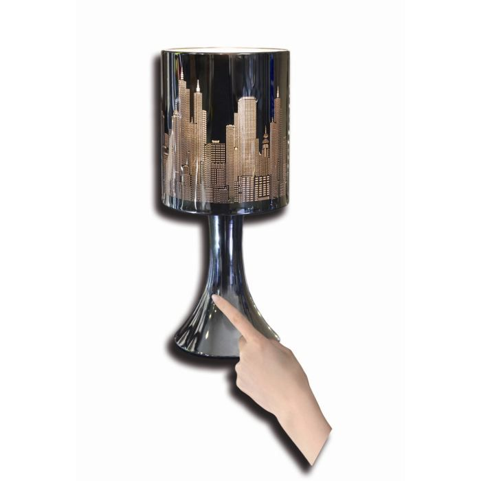 Lampe poser touch new york h28cm achat vente lampe poser touch new yo - Lampe de bureau new york ...